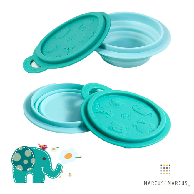 Ollie the Elephant Collapsible Silicone Baby Bowl