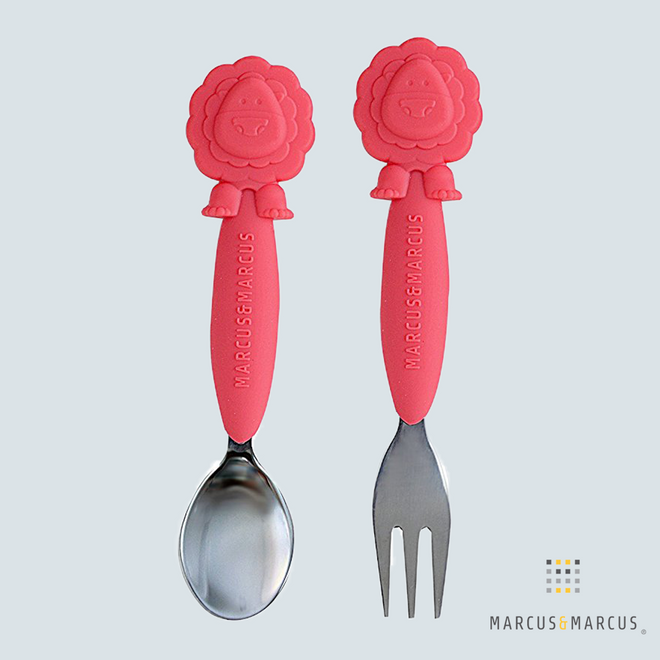Marcus the Lion Silicone Fork & Spoon Set