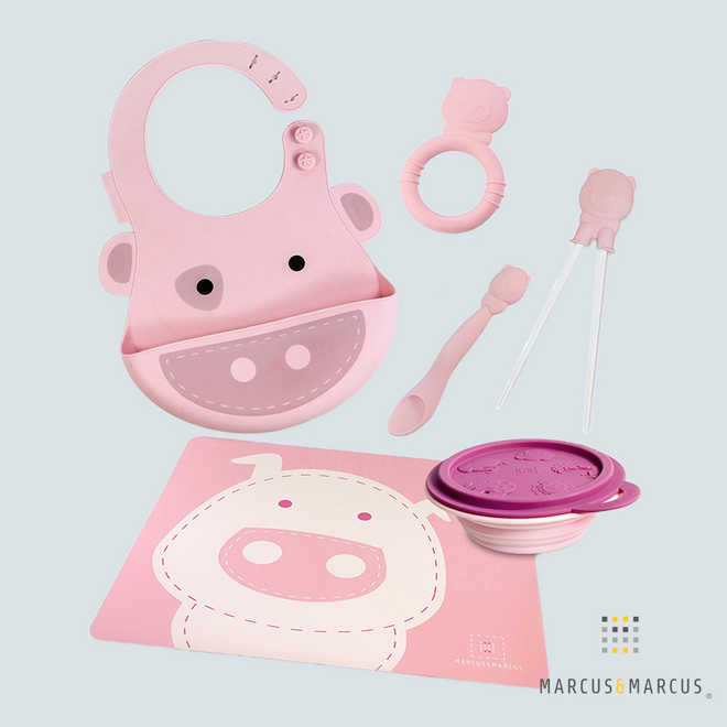 Pokey the Piglet Silicone Baby Dinning Set