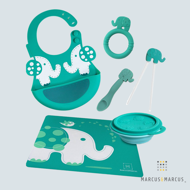 Ollie the Elephant Silicone Baby Dinning Set