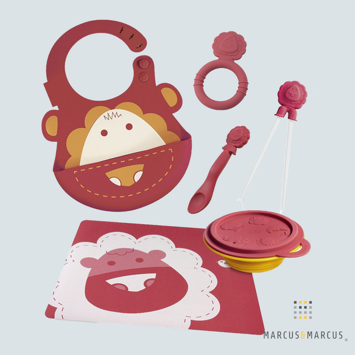 Marcus the Lion Silicone Baby Dinning Set