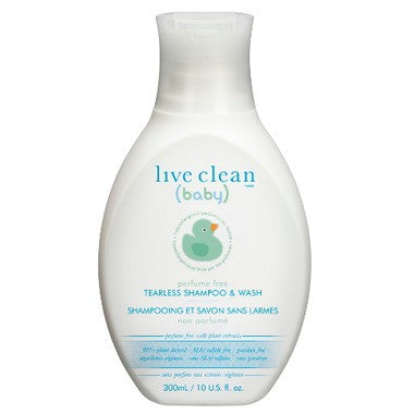 Live Clean Baby Perfume Free Tearless Shampoo & Wash  300 mL