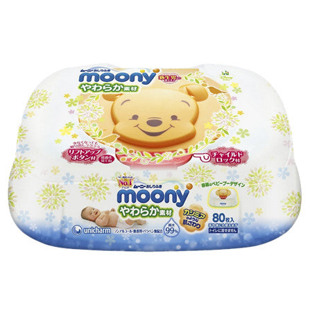 Moony Baby Wipe 99% Water Content 80 pcs