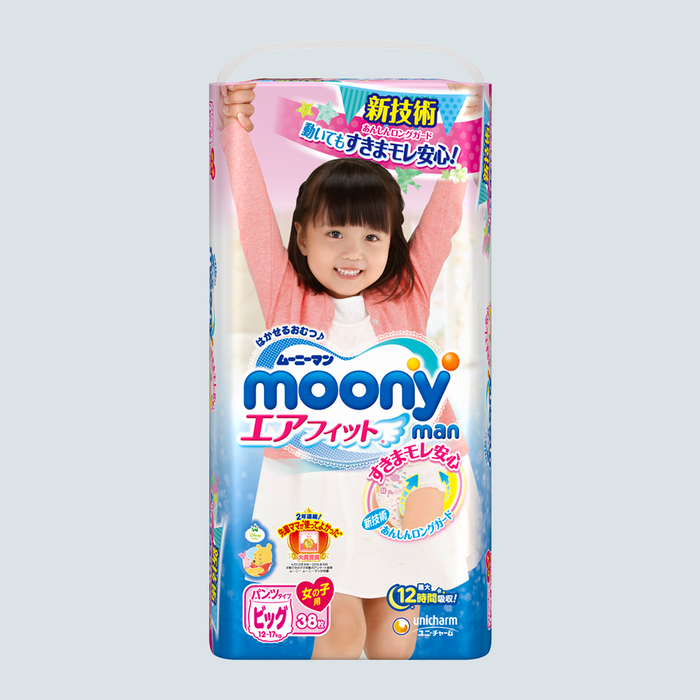 Moony-man Pull Up Pants for Girls Size XL 38 pcs