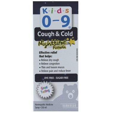 Homeocan Kids 0-9 Cough and Cold Nighttime Formula Syrup  250 mL