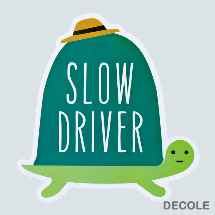 Car Sticker Slow Driver