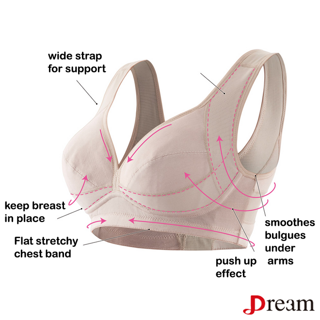 Gauze No Wire Support Cooling Bra