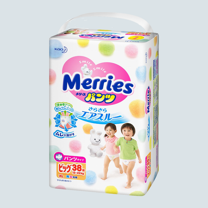 Merries Baby Pull Up Diaper XL size 38pcs