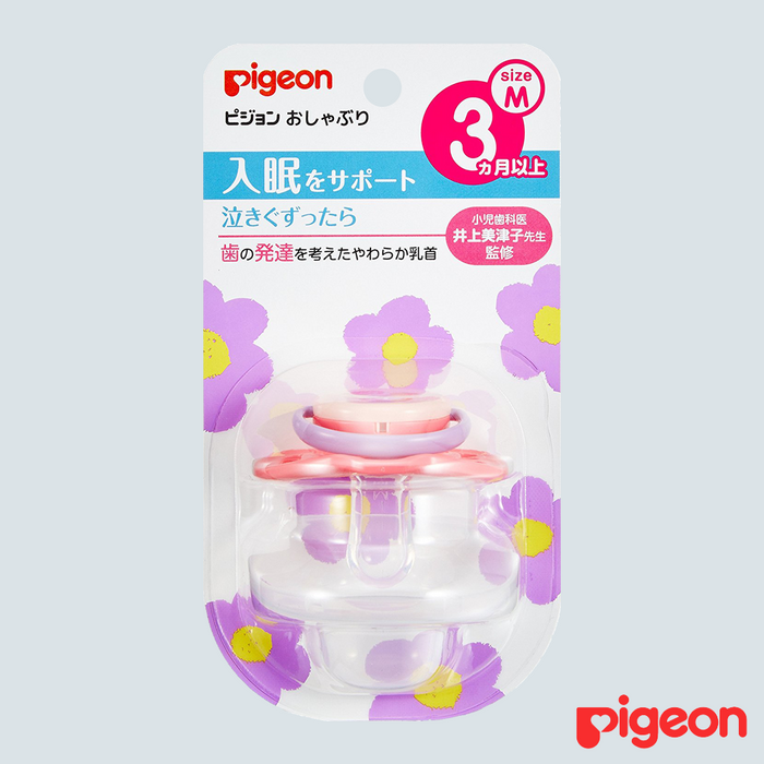 Pigeon Baby Pacifier Flower Medium 3mo+