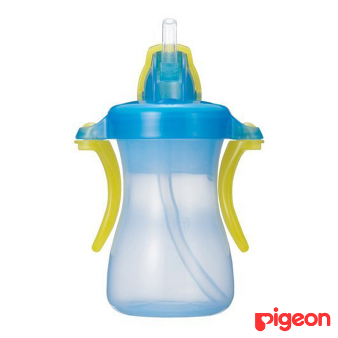 Pigeon Baby Straw Bottle Petite 150ml Blue