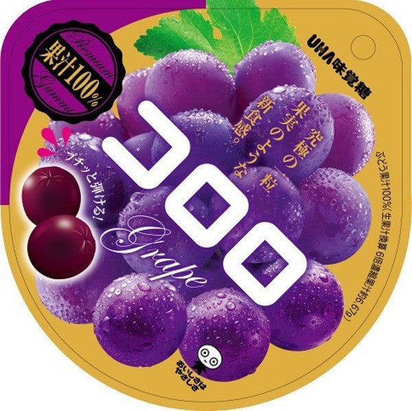 Kororo Gummy Candy Grape 40g