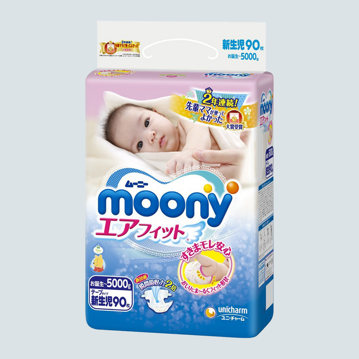Moony Baby Diaper Size Newborn 90 pcs