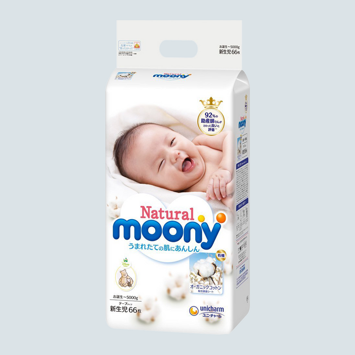 Moony Natural Baby Diaper Size Newborn 66pcs