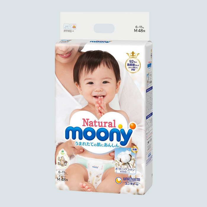 Moony Natural Baby Diaper Size M 48pcs