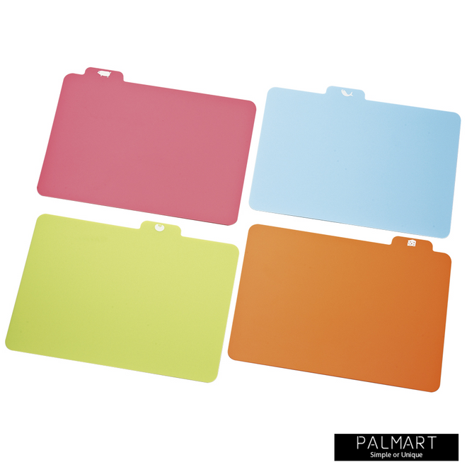 Antibacterial Cutting Board Set of 4 with Case