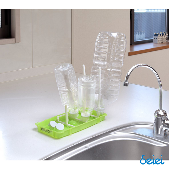 Foldable Wash and Drain Bottle Rack