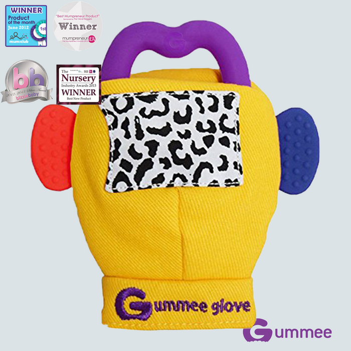 GUMMEE Glove Teethers 3-6 Months Yellow