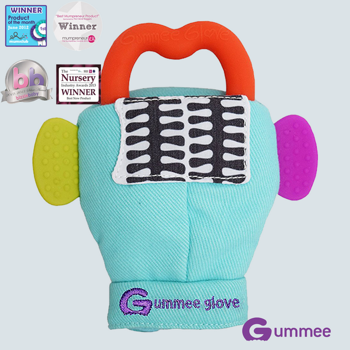 GUMMEE Glove Teethers 3-6 Months Blue