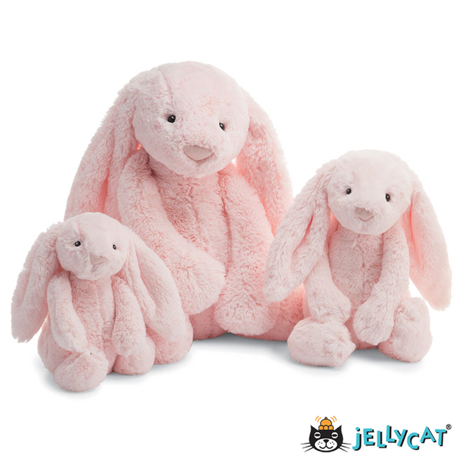 "Bashful Bunny Light Pink With Chime Medium 12"" 30CM"