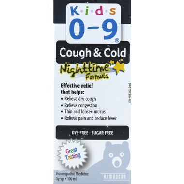 Homeocan Kids 0-9 Cough and Cold Nighttime Formula Syrup  100 mL
