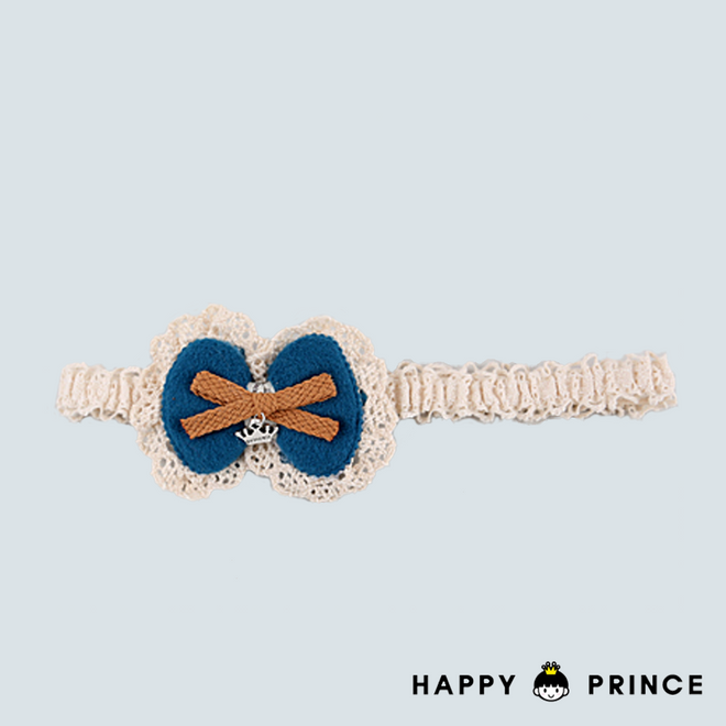 French Lace Hair Band BLUE