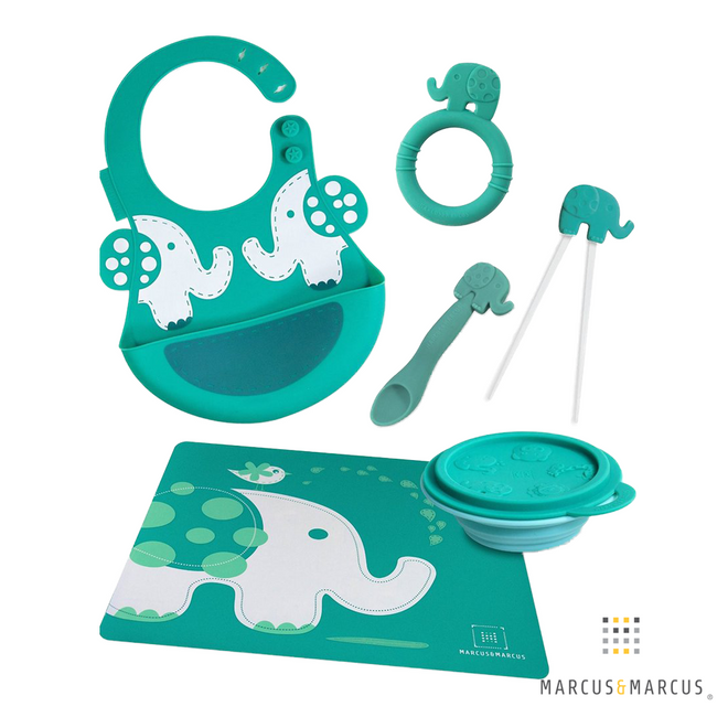 Ollie the Elephant Silicone Fork & Spoon Set
