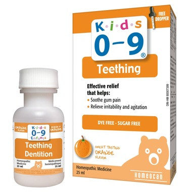 Homeocan Kids 0-9 Teething Oral Solution  Orange Flavour 25 mL Bottle with Dropper