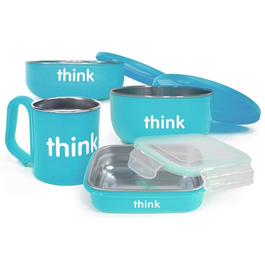Thinkbaby Complete BPA Free Feeding Set in Light Blue