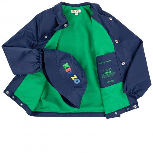 DALIL windbreaker NAVY with hat