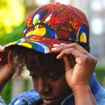 Femi Baba Hat-Dad Hat-Ankara Crowns-the wrap life-head scarf-brooklyn-african print-turban- fanm djanm- cee cees closet - head wrap