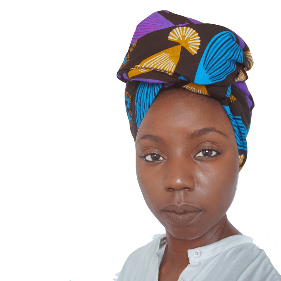 Bunmi-Headwrap-Ankara Crowns-the wrap life-head scarf-brooklyn-african print-turban- fanm djanm- cee cees closet - head wrap