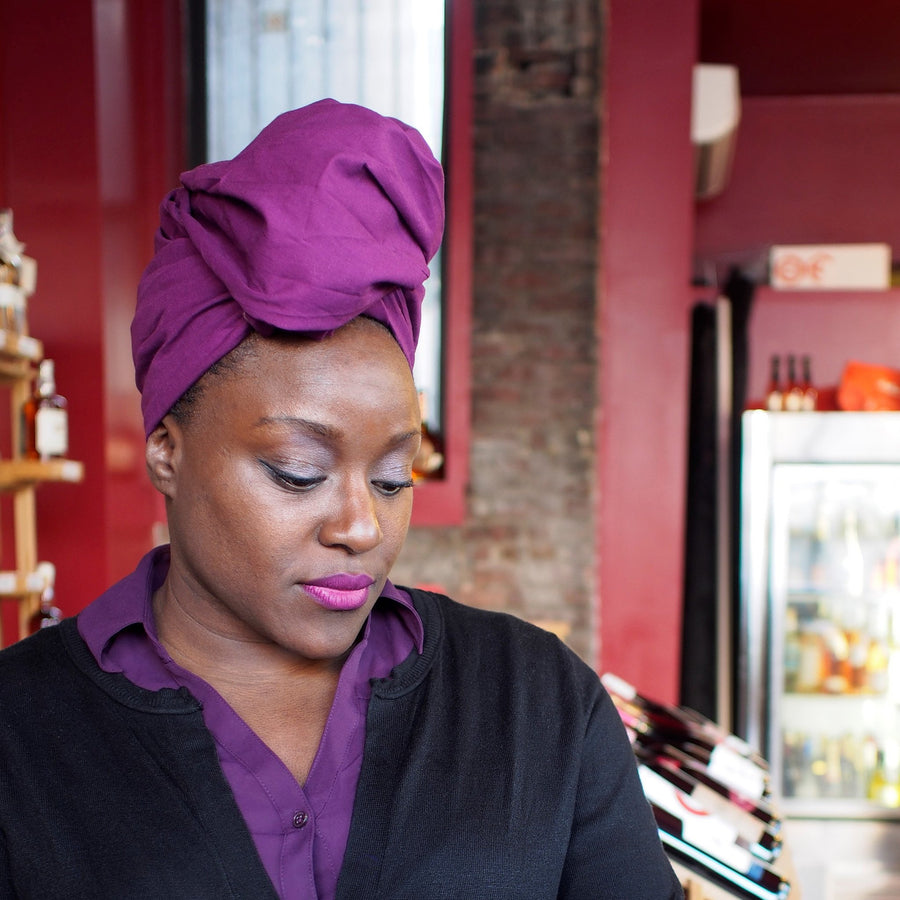 Fuchsia-Headwrap-Ankara Crowns-the wrap life-head scarf-brooklyn-african print-turban- fanm djanm- cee cees closet - head wrap