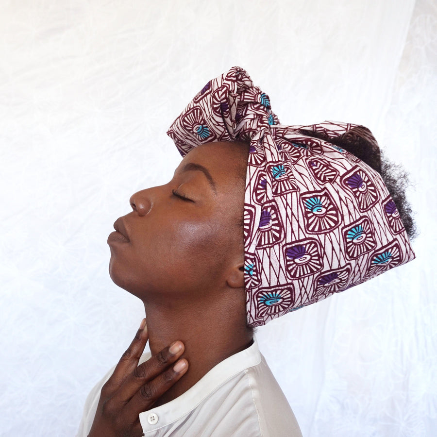 Ginika-Headwrap-Ankara Crowns-the wrap life-head scarf-brooklyn-african print-turban- fanm djanm- cee cees closet - head wrap