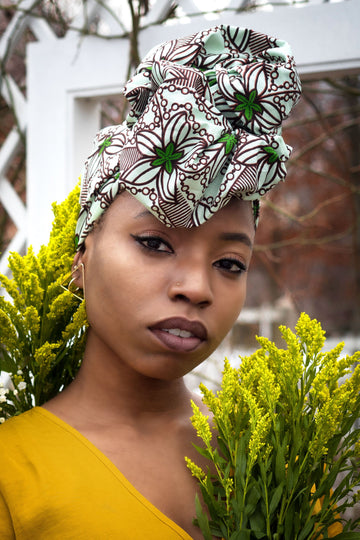 Hafisa-Headwrap-Ankara Crowns-the wrap life-head scarf-brooklyn-african print-turban- fanm djanm- cee cees closet - head wrap