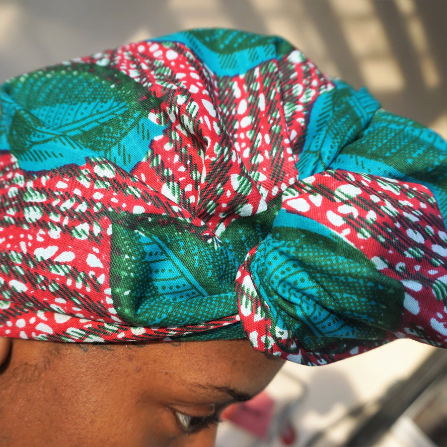 Ikela-Headwrap-Ankara Crowns-the wrap life-head scarf-brooklyn-african print-turban- fanm djanm- cee cees closet - head wrap