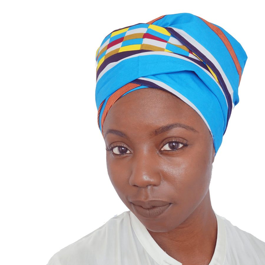 Morowa-Headwrap-Ankara Crowns-the wrap life-head scarf-brooklyn-african print-turban- fanm djanm- cee cees closet - head wrap