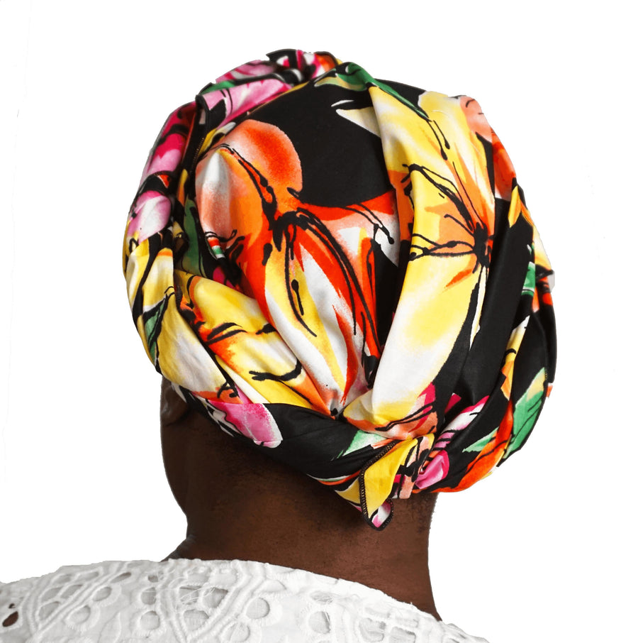 Nyasha-Headwrap-Ankara Crowns-the wrap life-head scarf-brooklyn-african print-turban- fanm djanm- cee cees closet - head wrap