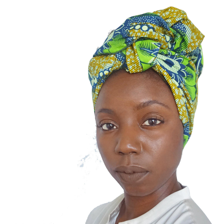 Simisola-Headwrap-Ankara Crowns-the wrap life-head scarf-brooklyn-african print-turban- fanm djanm- cee cees closet - head wrap