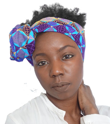 Zahra-Headwrap-Ankara Crowns-the wrap life-head scarf-brooklyn-african print-turban- fanm djanm- cee cees closet - head wrap