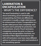 ENCAPSULATION OR LAMINATION?