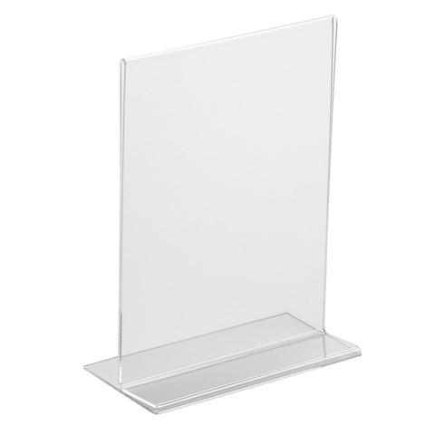 Double Sided Poster Holder Portrait T Stand A4 and A5
