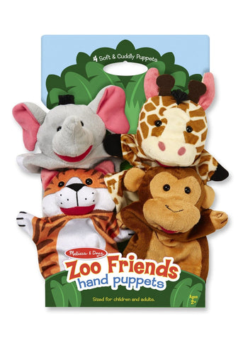 Zoo Friends Hand Puppets - Calendar Club of Canada - 1