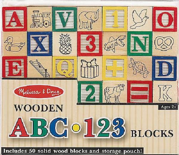 Wooden ABC 123 Blocks - Calendar Club of Canada