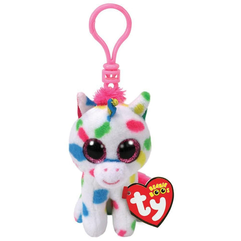 008421352111 Harmonie White Speckled Unicorn Clip Ty - Calendar Club