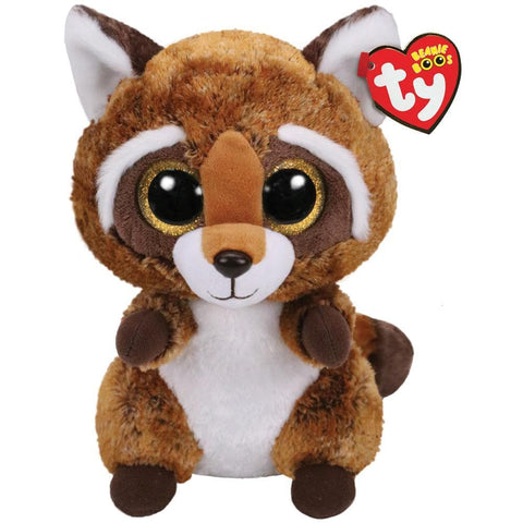 008421364220 Rusty Brown White Racoon Medium Ty - Calendar Club
