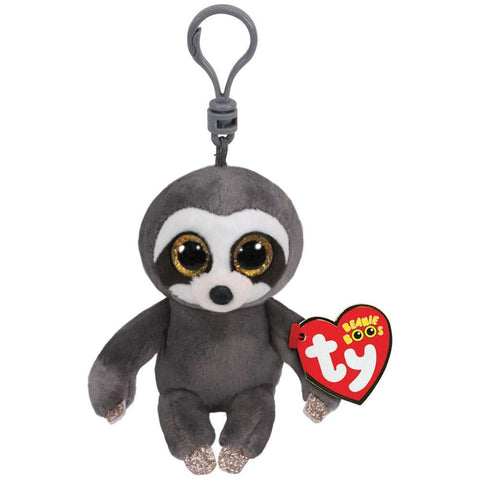 008421365593 Dangler Grey Sloth Clip Ty - Calendar Club