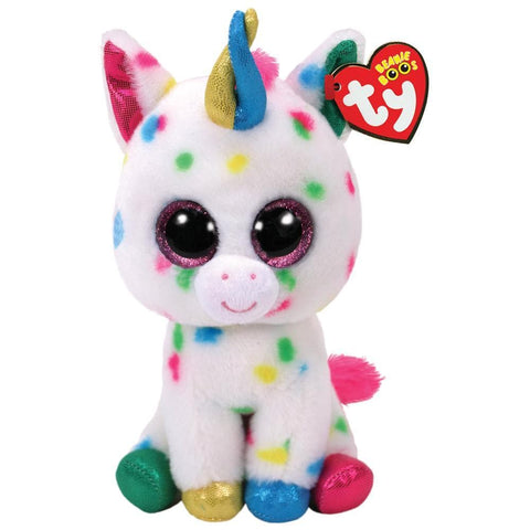008421368983 Harmonie White Speckled Unicorn Boo Ty - Calendar Club