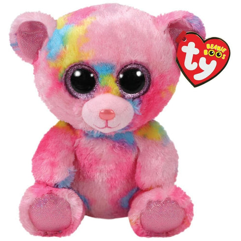 008421368990 Franky Pink Multicolor Bear Boo Ty - Calendar Club