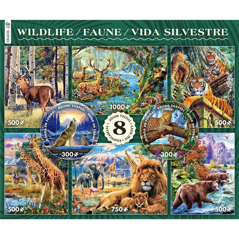 Wildlife 8 in 1 Jigsaw Puzzle