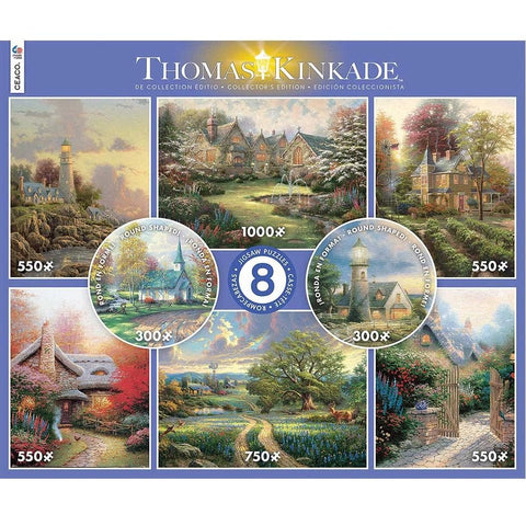 Thomas Kinkade 8 in 1 Jigsaw Puzzle